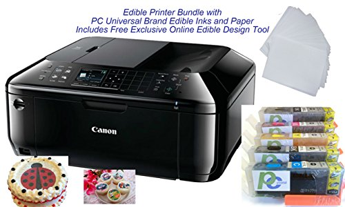 Edible Printer Bundle- Brand New Canon All-in-One Printer with Edible Paper and Inks by PC Universal by PC Universal (Image #5)