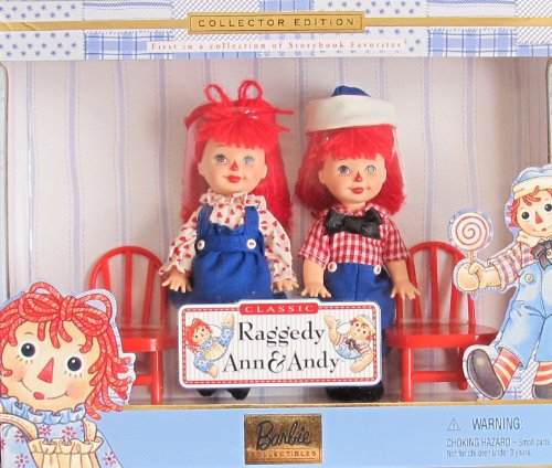 Set Andy Doll (Barbie KELLY & TOMMY Classic RAGGEDY ANN & ANDY DOLLS Storybook Favorites COLLECTOR EDITION Set (1999))