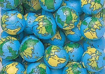 Chocolate Earth Balls Foil Covered - Approximately 75-80 Pieces Per Pound (3 LB) - Comes in a Sealed / Resealable Candy Bag - Perfect For Parties, Pinata, Office Bowl, Wedding Favors, Easter Baskets (The Best Ball In The World)