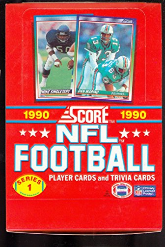1990 Score Football Wax Pack Box series 1 Set CASE FRESH Unopened Wax Pack