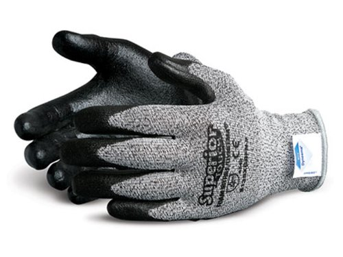 Superior S13SXGBFN Superior Touch Dyneema Speckled String Knit Glove with Foam Nitrile Coated Palm, Work, Cut Resistant, 13 Gauge Thickness, Size 11, Black/Gray (Pack of 1 Pair) - 11 Cut Resistant Gloves