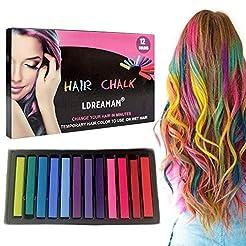Hair Chalk,Hair Chalk Pens,Temporary Hai...