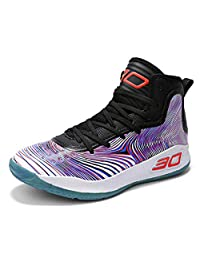 COSDN Womens Mens Fashion High-Top Basketball Shoes Lightweight Breathable Youth Sports Running Sneakers