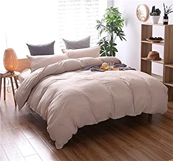 tan duvet cover. 3-Pieces Tan Bedding Solid Color Duvet Cover Set - 3 Pieces (1 B