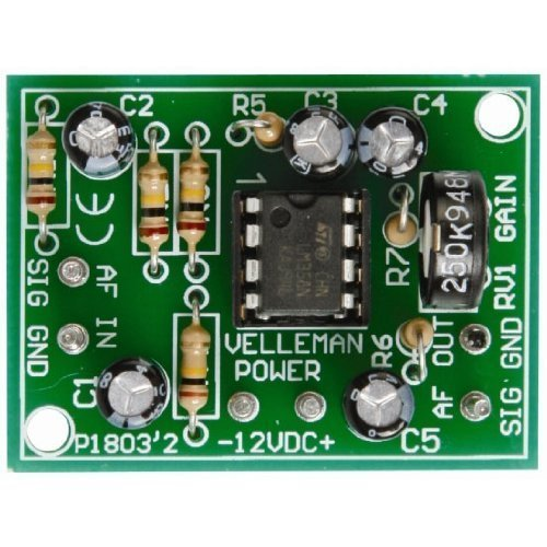 Mic Pre Module (Universal Mono Pre-Amplifier Kit - K1803 by Velleman. Intermediate level soldering kit)