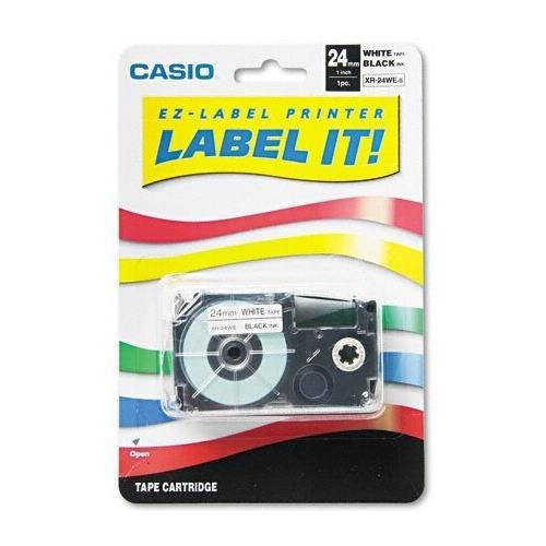 Casio XR24WES Labeler TAPE,24MM, Black/white