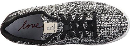 Ed Ellen Degeneres Vrouwen Chapala Stof Laag Top Lace Up Mode Sneakers Zwart / Wit Winter Boucle