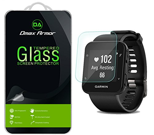[2-Pack] Dmax Armor for Garmin Forerunner 35 [Tempered Glass] Screen Protector with Lifetime Replacement