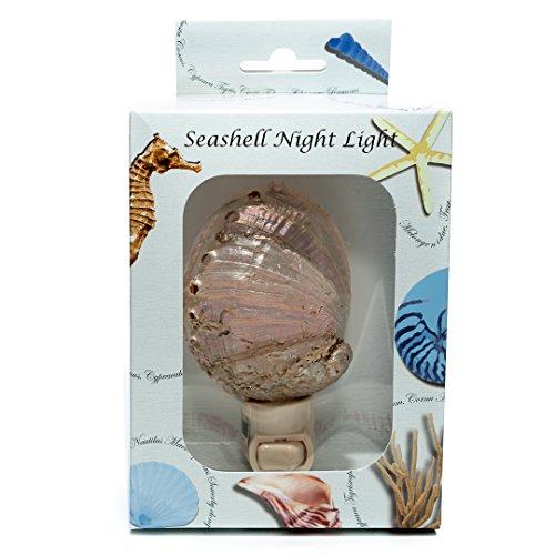 Sea Shell Night Light | Pearled Abalone Shell Nautical Night Light | Home Decor | Plus Free Nautical Ebook by Joseph Rains