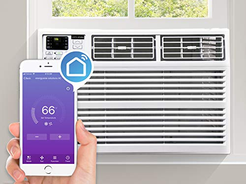 North Storm NS-12W-WAC 12,000 BTU Window Air Conditioner with WiFi, Remote Control, Energy Saving, White