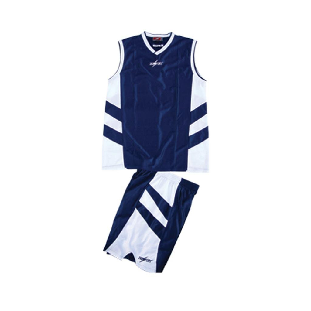 ZEUS KIT BOZO BASKETBALL SHIRT/& SHORTS 100/% POLYESTER ROYAL//WHITE