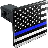 Slap-Art USA United States Matte Black Flag US Subdued 2 Tow Trailer Hitch Cover Plug