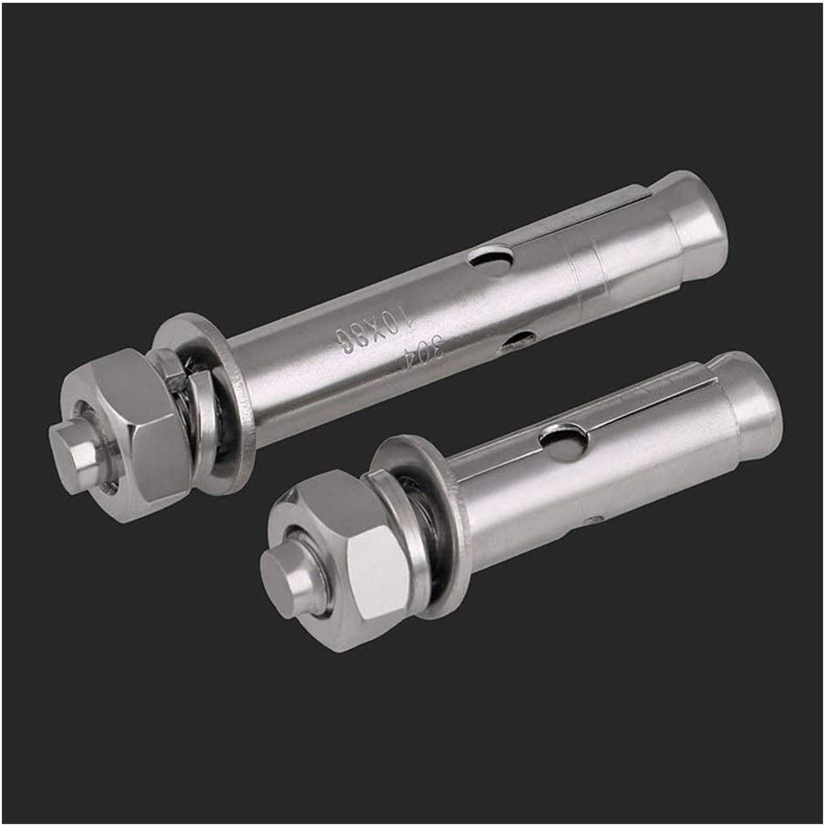 Color : 100mm, Size : M12 Expansion Screw 304 Stainless Steel Expansion Screw//Lengthened Expansion Screw//Pull and Explosion Hook Screw//Bolt M12-M20 2Pcs Fixed