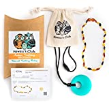Baltic Amber Teething Necklace - Handmade in Lithuania - Lab-Tested Authentic - Comes with Silicone Teething Pendant (12.5 Inches - Standard, Multicolor - 12.5 Inches Standard)