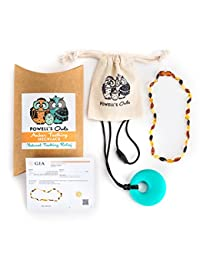Baltic Amber Teething Necklace Gift Set + FREE Silicone Teething Pendant ($15 Value) Handcrafted, 100% USA Lab-Tested Authentic Amber - Natural Teething Pain Relief (Unisex - Multicolor - 12.5 Inches) BOBEBE Online Baby Store From New York to Miami and Los Angeles