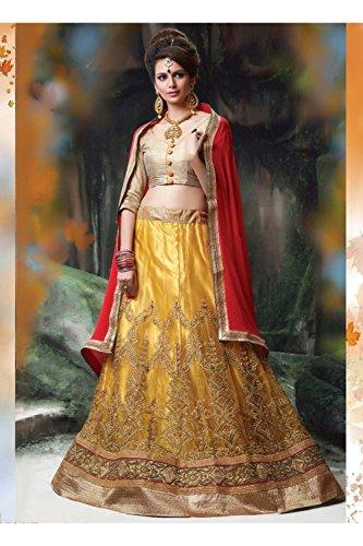 PCC Indian Women Designer Wedding yellow Lehenga Choli K-4595-40309