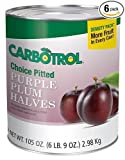 Carbotrol Plum Halves, 10 Canned Fruit - 105oz (Case of 6 Cans)