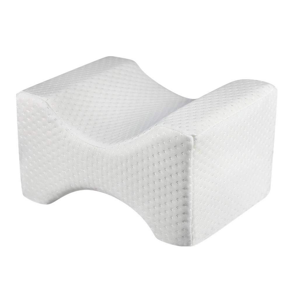 Biback Knee Pillow Leg Positioner Pillows Visco-elastic Memory Foam Leg Pad with Washable Cover Leg Shaping for Maternity Shaping