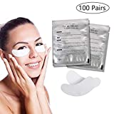 Eyelash pad, 100 Pairs of Eye Gel Pads, Comfy and Cool Eye Gel Patches for Eyelash Extension Eye Mask