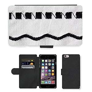 "PU LEATHER case coque housse smartphone Flip bag Cover protection // M00150867 Máquina de coser del bordado Negro // Apple iPhone 6 PLUS 5.5"""