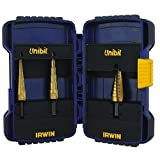 Irwin Industrial Tools 15502 Unibit 502T Titanium Nitride Coated Step Drill Bit Set with Nylon Pouch, 3-Piece by IRWIN
