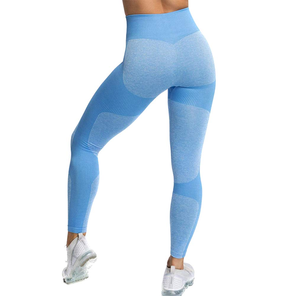 Watkings Women Seamless High Waisted Yoga Leggings Stretch for Fitness Sports Running Gym