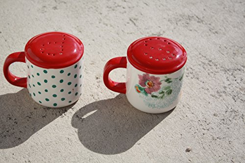 The Pioneer Woman Country Garden Decorated Range Top Salt & Pepper Shakers (Stove Top Salt And Pepper Shakers)
