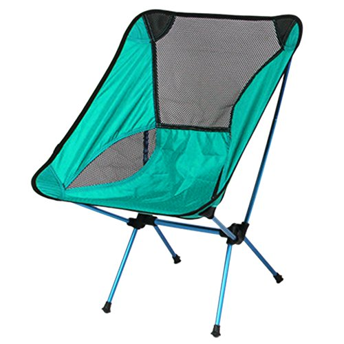 Ezyoutdoor Walkstool Flux Chair Portable Flux Chair Folding Chair Foldstool with Case for Bivouac Camping Fishing Hiking Travel Backpacking Picnic Survival Self Defense (blue) with Gift Hat