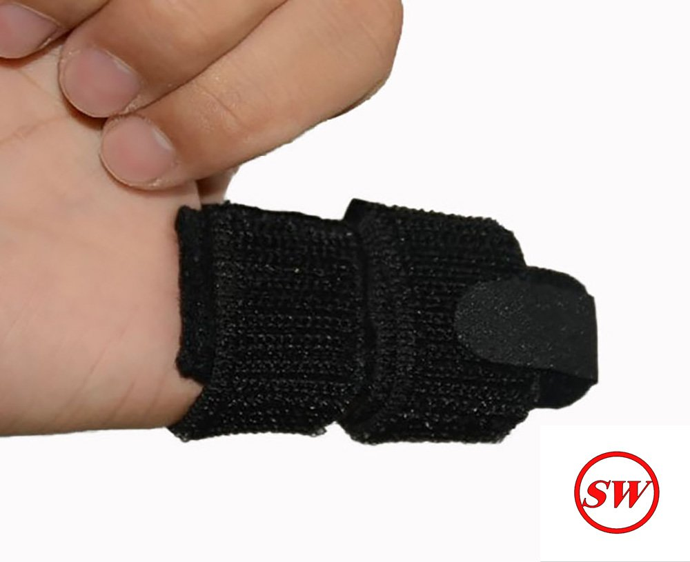 SW Trigger Finger Brace Splint Pain Relief Comfortable Materials Heal Stenosing Tenosynovitis and Softens Injury Symptoms | Adjustable for Pinky,Thumb,Ring,Index, and Middle Finger