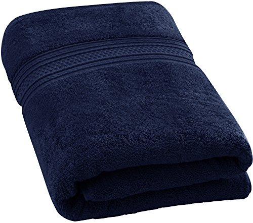Utopia Towels 700 GSM Premium Cotton Extra Large Bath Towel (35 Inch by 70 Inch) Soft Luxury Bath Sheet, Navy Blue