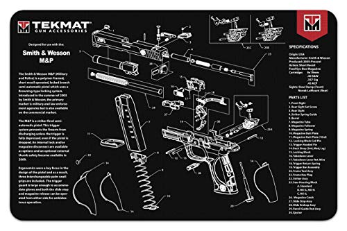 Mat for use with Smith & Wesson S&W M&P - 3mm Soft Mouse Pad Mat - 11 x 17 inch - Bonus Towel (Pad Smith And Wesson Mouse)
