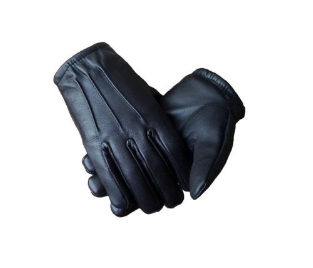 Men's Genuine Leather Police Search Gloves Unlined - Free Returns (MEDIUM, WHITE)