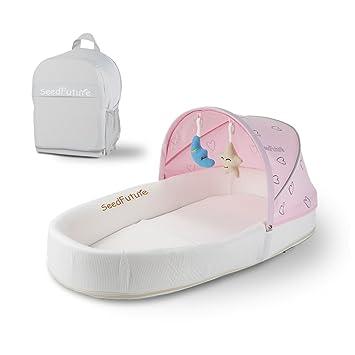 Bassinets For Newborn Baby Nest Travel Portable Sleeper Infant Lounger Sleeping Pod Pink