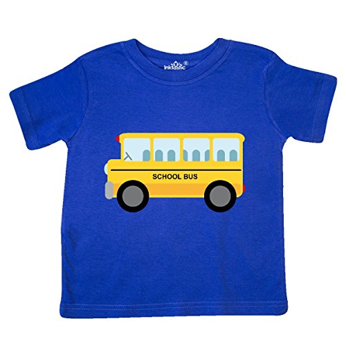 inktastic School Bus Toddler T-Shirt 2T Royal (School Toddler Tee)