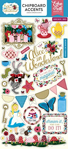 Echo Park Paper Company Alice in Wonderland 6x13 Chipboard Accents