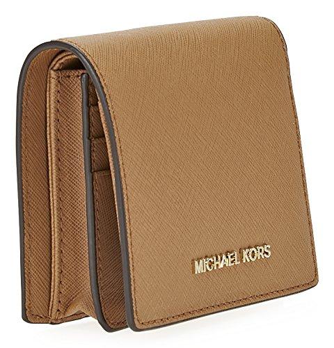 799dfc7902a1 Michael Kors Women s Jet Set Travel Saffiano Flap Card Holder Leather Wallet  - Acorn  Michael Kors  Amazon.ca  Luggage   Bags