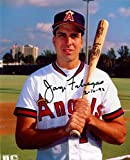 Signed Jorge Fabregas Photo - 8x10 Bat - Autographed MLB Photos