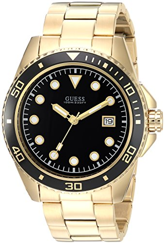 GUESS-Mens-Quartz-Stainless-Steel-Casual-Watch-ColorGold-Toned-Model-U1002G4