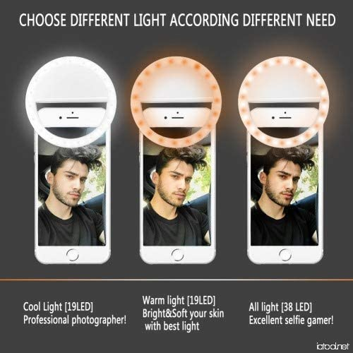 Rechargeable Selfie Ring Light Nucleya Retail Buy 2018-19 Selfie Ring Light LED Circle Light Cell Phone Cell Phone Laptop Camera Photography Video Lighting Clip Selfie Ring Light for Phone