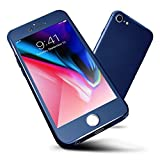 iPhone 6 Case,iPhone 6s Case ORETech iPhone 6/6s Cover Case 360 Full Body Ultra-Thin with [2 x Tempered Glass Screen Protector], Anti-Scratch Hard PC Case for iPhone 6 Case - 4.7 inch - Navy Blue