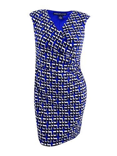 American Living Women's Geo-Print Jersey Dress (12, Blue ()