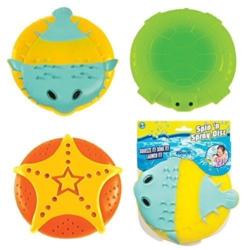 Toysmith Spin N Spray Disc, Styles Vary (Spray Disc)