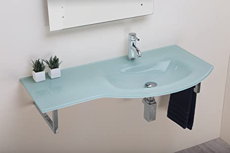 Arredo Bagno In Vetro.Bathroomitalstyle Arredo Bagno Lavabo Lavamano In Vetro Float 97 Cm