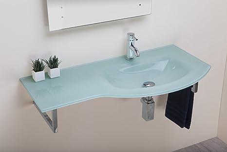 Lavabi In Acciaio Bagno.Bathroomitalstyle Arredo Bagno Lavabo Lavamano In Vetro Float 97 Cm