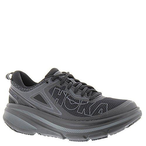 HOKA ONE ONE Men Bondi 4 Running Sneaker Shoe, Black, US 10