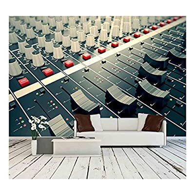 Premium Creation, Charming Artisanship, Side Closeup on a Sliders of a Mixing Console