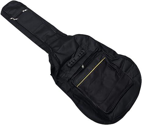 HEALLILY 41 Pulgadas Bolsa de Guitarra Electrica Impermeable Correas Acolchadas Estuche Portátil para Guitarra Acústica y Clásica: Amazon.es: Instrumentos musicales