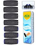 Improved 4 Extra Coarse & 3 Regular Coarse Replacement Refill Roller for Amope Pedi Refills Electronic Perfect Foot File Refills