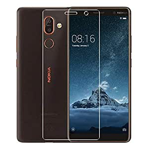 Nokia 6(2018) Screen Protector, 9H Hardness HD clear Bubble Free Installation High Responsivity Tempered Glass Screen Protector for Nokia 6(2018)