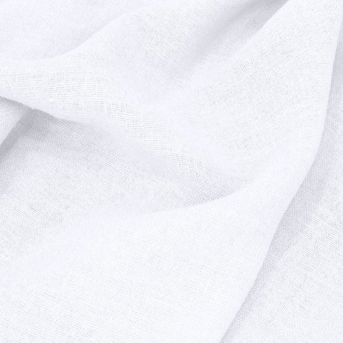TOLKO® Leinenstoff Meterware in 27 Farben - Kleiderstoff / Dekostoff aus 100% LEINEN (Weiß)